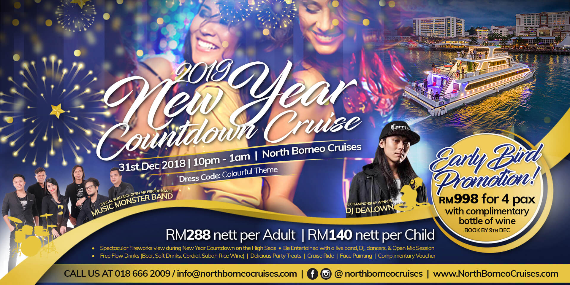 2019 New Year Eve Countdown Cruise